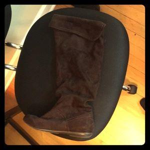 Nine West chocolate Boots (lightly worn)